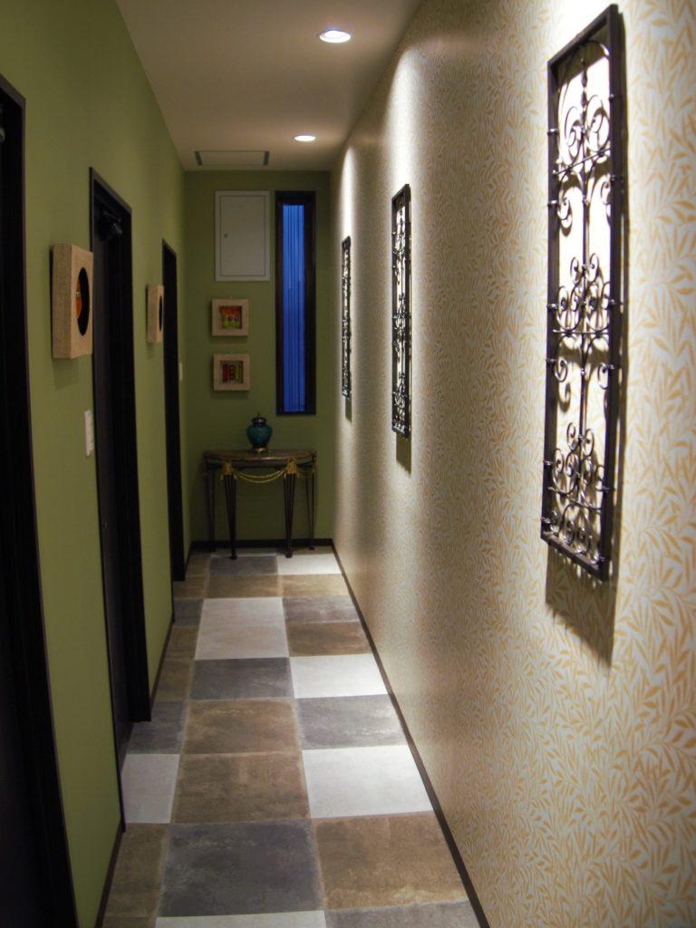 トイレに向かう廊下スペース。