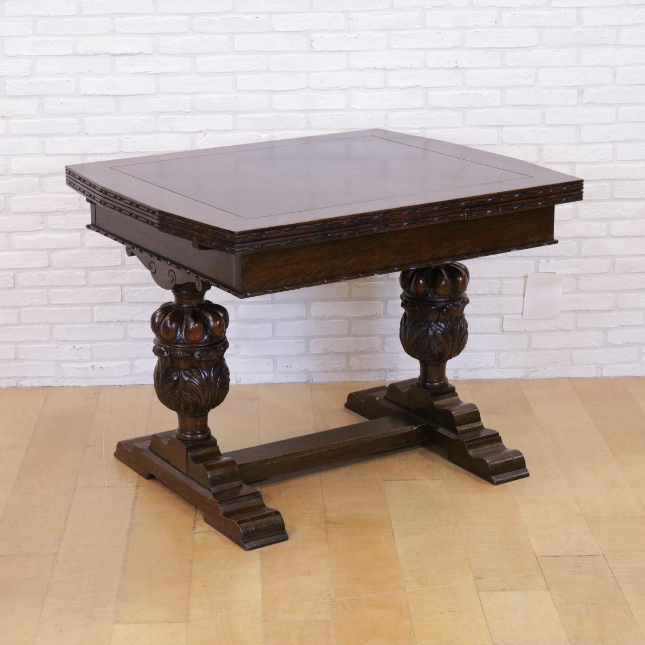 英国アンティークのドローリーフテーブル