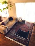 ビジャー産の絨毯がアクセントに効いたインテリア。