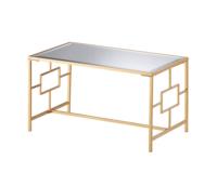 ゴールドミラーフレームセンターテーブル