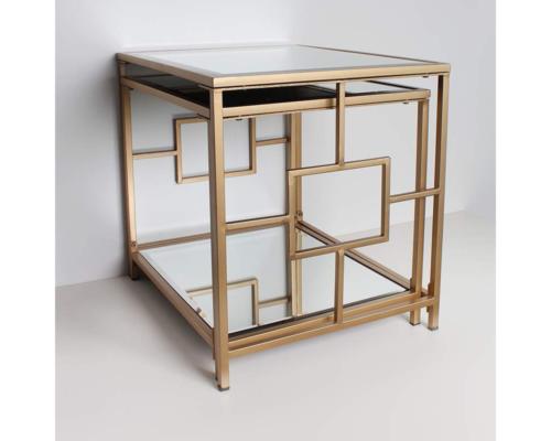ゴールドミラーネストテーブル