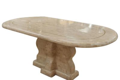 楕円ストーンテーブル (ストーンウェーブ脚)オリジナルデザイン Raffles (ラッフルズ)