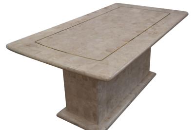 ストーンテーブル (ストレートストーン脚)オリジナルデザイン Raffles (ラッフルズ) 長方形天板