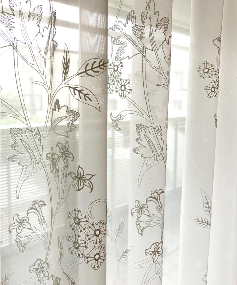 刺繍の美しいレースカーテン