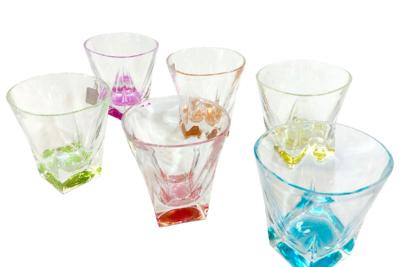 クリスタルグラス(6色セット)
