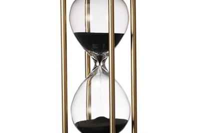 15分おしゃれ砂時計 インテリアオブジェやグラムスタイルの演出に(ブラックサンド)