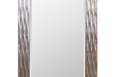 シルバーウォールミラー/モダンなデザインミラー